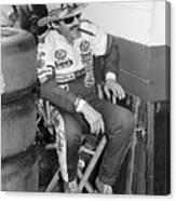 Richard Petty Sitting In Directors Chair Canvas Print