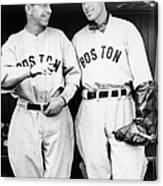 Rick And Wes Ferrell Of The Red Sox Canvas Print