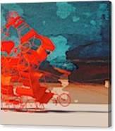 Rickshaw Pileup and Cow Canvas Print