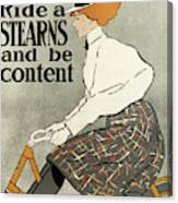 Ride A Stearns And Be Content, Circa 1896 Canvas Print
