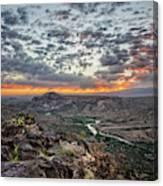 Rio Grande River Sunrise 2 - White Rock New Mexico Canvas Print