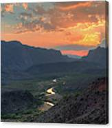 Rio Grande River Sunset Canvas Print