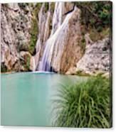 River Neda Waterfalls Canvas Print
