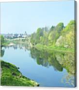 river tweed at Coldstream Canvas Print