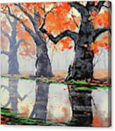 Riverside Trees Canvas Print