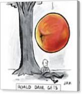 Roald Dahl Gets A Book Idea Canvas Print
