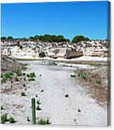 Robben Island Quarry Stone Pile Canvas Print