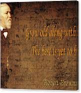 Robert Browning 1 Canvas Print