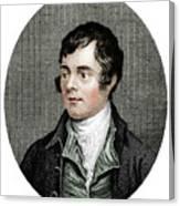 Robert Burns, Scottish Poet, 1877 Canvas Print