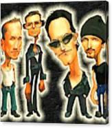 Rock N' Roll Warriors - U2 Canvas Print