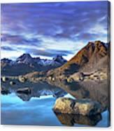 Rock Reflection Landscape Canvas Print