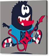 Rock, Rocker  Monster Canvas Print