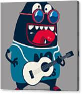 Rock Star Monster, Guitar Canvas Print