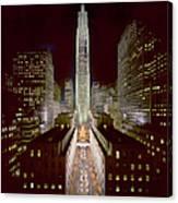 Rockefeller Center, Manhatten, At Canvas Print