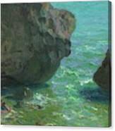 Rocks At Cap Negret Sp Canvas Print