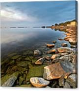 Rocks On Shore Line Canvas Print