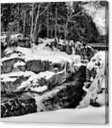 Rocky Gorge Foot Bridge N H Canvas Print