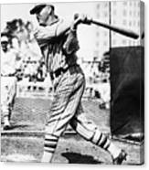 Rogers Hornsby In Batting Cage Canvas Print