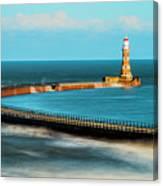 Roker Pier Canvas Print