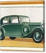Rolls-royce 20-25 Saloon, C1936 Canvas Print