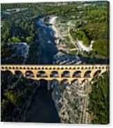 Roman Aqueduct, Pont Du Gard Canvas Print
