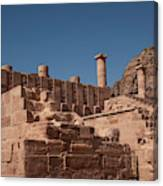 Roman Temple In Petra Canvas Print