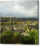 Rooftops Of Ambleside In Early Morning In The Lake District Canvas Print