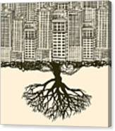 Root Of The Big City Canvas Print