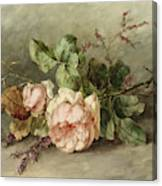 Roses, 19th Century Canvas Print