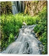 Roughlock Waterfalls In Lead, South Canvas Print