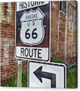 Route 66 - Kansas #1 Canvas Print