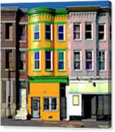 Row Houses Baltimore Canvas Print
