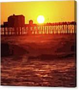 Ruby Sunset Oceanside Pier Canvas Print