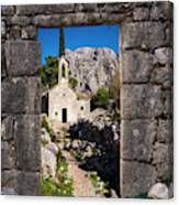 Ruins In Kotor, Montenegro Canvas Print