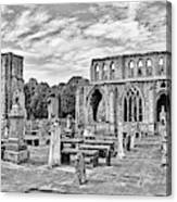 Ruins Of A Cathedral, Elgin Cathedral Canvas Print