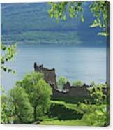 ruins of castle Urquhart on loch Ness Canvas Print
