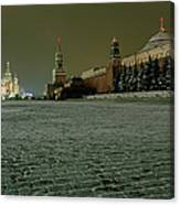 Russia, Moscow, Red Square And Kremlin Canvas Print