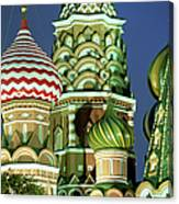 Russia, Moscow, Red Square, St Basils Canvas Print