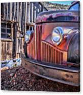 Rusty Old Truck In A Ghost Town In Arizona Canvas Print