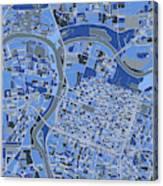 Sacramento Map Retro 5 Canvas Print