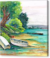 Safe Mooring-whangamata Harbour. Canvas Print
