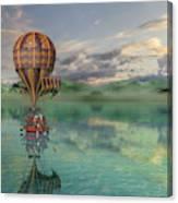 Sailing Away Daydream Steampunk Canvas Print