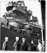 Sailors, Anticipating Shore Leave, Line Canvas Print