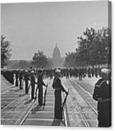 Sailors Lining Constitution Avenue For Canvas Print