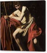 Saint John The Baptist In The Wilderness             Canvas Print