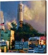 Salesforce Tower Coit Tower Transamerica Pyramid Canvas Print