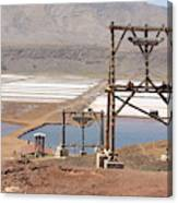 Salt Pans And 200 Yr Old Cable Car Winches Canvas Print