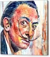 Salvador Dali Portrait Canvas Print