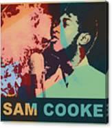 Sam Cooke Pop Art Canvas Print