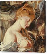 Samson And Delilah, Detail Of Delilah Canvas Print